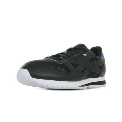 aa9151edf20 Chaussures Baskets Reebok homme Classic leather taille Noir Noire Textile  Lacets