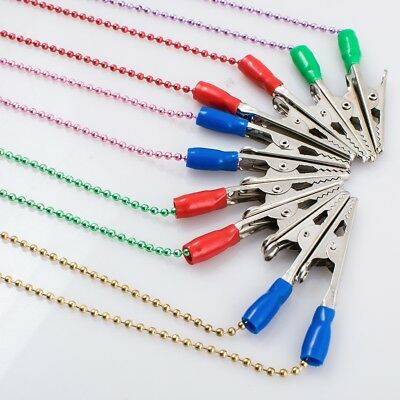 25 Pcs Dental Instrument Bib Clips Flexible Ball Chain Napkin Holder Color Random Home