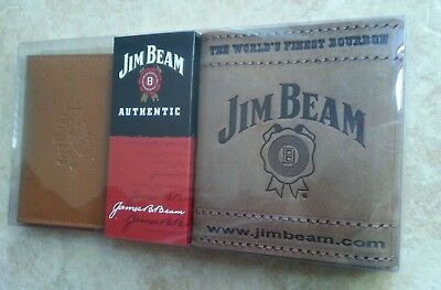 Jim Beam Leather C/card Holder&stubby Holder/wrap. Free Shipping