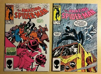 Marvel AMAZING SPIDER-MAN (VOL 1) 2 BOOK LOT # 253 254 THE ROSE VF 1984
