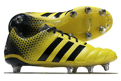 adidas Mens adipower Kakari 3.0 Soft Ground Rugby Boots Sport Shoes Studs Yellow