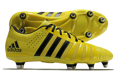 adidas Mens FF80 Pro 2.0 XTRX Soft Ground Rugby Boots Sports Shoes Studs Yellow