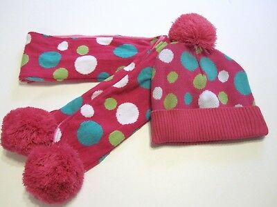 Jumping Beans Hat Scarf Set Size Youth Small 4 5 6 6X Pink