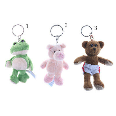 Kawaii Animal Doll Plush Stuffed TOY Bear Pig Frog Plush Pendant Key chain DSUK
