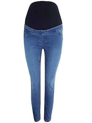 New Maternity NEW LOOK Light Blue Jeggings Over the Bump 8 12 14 18 24