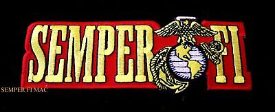 Semper Fi Hat Patch Us Marines Usmc Veteran Gift Pin Up Ega Seal Logo Eagle Wow