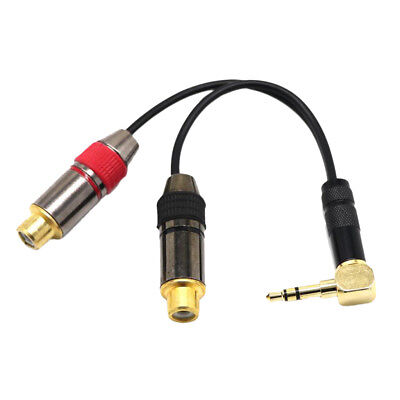 Gold-Plated 3.5mm Male to 2 RCA Female Stereo Audio Adapter Extension Cable