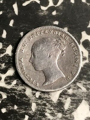1938 Great Britain 4 Pence Fourpence Lot#X5691 Silver!
