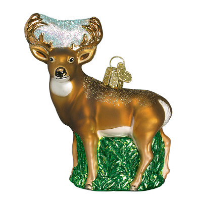 """Whitetail Deer"" (12162)X Old World Christmas Glass Ornament w/ OWC Box"