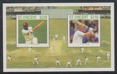 St Vincent - 1988, Cricketers of 1988 sheet - MNH - SG MS1152
