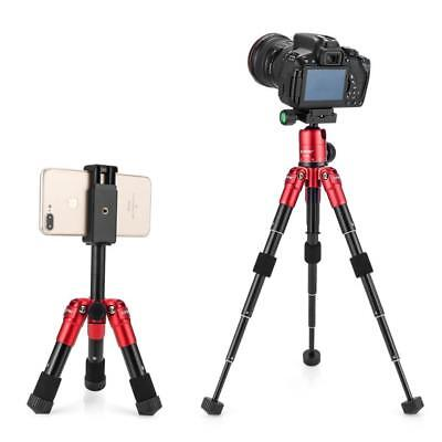 Compact Desktop Macro Mini Tripod with 360 Degree Ball Head for DSLR - Red
