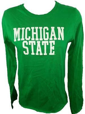 CUTE GREEN SHIRT 29BZ NEW MICHIGAN STATE SPARTANS YOUTH GIRLS LARGE size 10//12