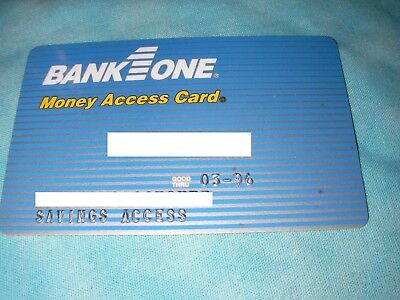 Credit Charge ATM Card Bank One 1996 Blue Star Plus MAC discontinue money access