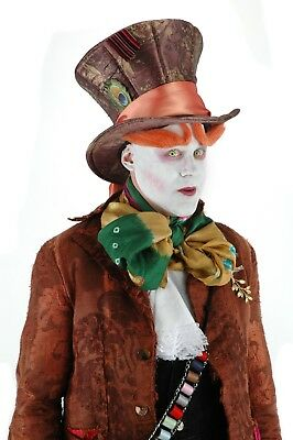 0774612fa6003 Disney Alice in Wonderland Tim Burton Adult Costume Mad Hatter Plush Hat  Elope