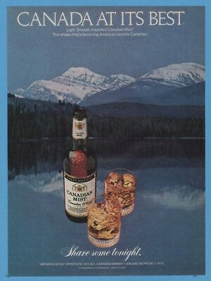 1981 Canadian Mist Whisky Canada At Its Best Mountains Vintage Magazine Print Ad