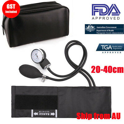 Aneroid Sphygmomanometer Blood Pressure Monitor BP Cuff Gauge Tester Machine Kit