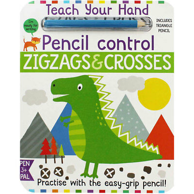 Teach Your Hand Pencil Control - Zigzags and Crosses, Children's Books, New