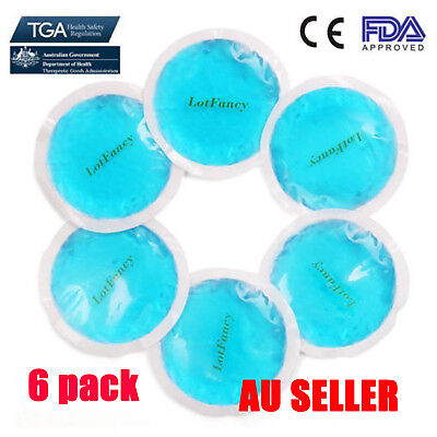6 Pack Hot Cold Ice Gel Pack Reusable First Aid For Eye toothache Pain Relief