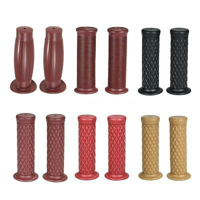 Universal 7/8'' 22MM Vintage rubber Motorcycle handle grips handlebar grips X8V7
