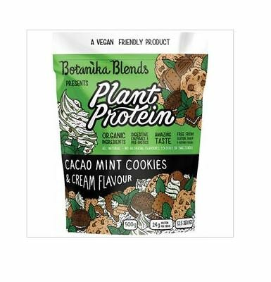 3 x 500g BOTANIKA BLENDS Plant Protein - Cacao Mint Cookies & Cream 1.5kg