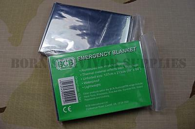 2 x BCB EMERGENCY FOIL BLANKETS - Hypothermia Thermal Space Blanket First Aid