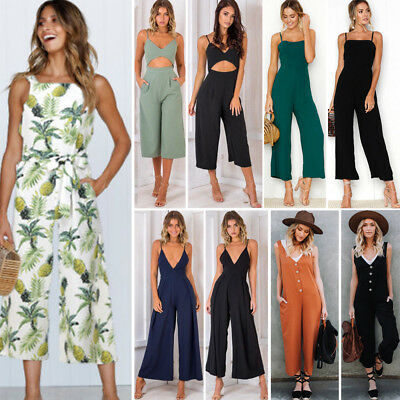Womens Clubwear Summer Playsuit Bodycon Party Long Jumpsuit Romper Trousers Lot