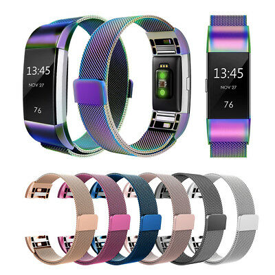 Metal Magnetic Milanese Stainless Watch Band Strap per Fitbit Charge 2 Tracker