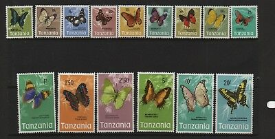 Tanzania 1973 Butterflies SG158-172 unmounted mint MNH set of stamps