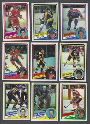 1984-85 O-Pee-Chee Hockey Cards Complete Set of 396 Including the Wrapper