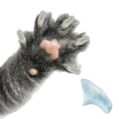 PRETTY CLAWS 60 Piece Soft Nail Caps For Cat Paws with adhesive - CRYSTAL CLEAR