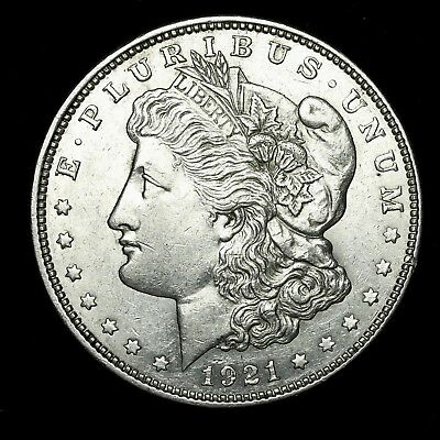 1921 D ~**ABOUT UNCIRCULATED AU**~ Silver Morgan Dollar Rare US Old Coin! #X26
