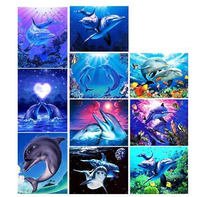 Dolphin 5D Diamond Embroidery Painting Cross Stitch Kit DIY Crafts Needlework