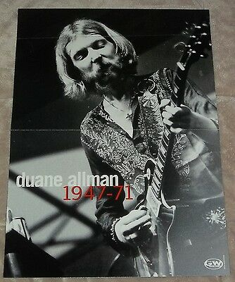 Duane Allman Brothers 1947-71 centerfold + Dave Mustaine #1 Jackson V guitar