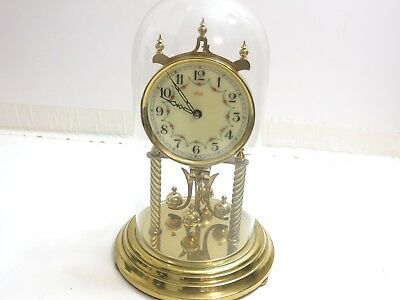 Vintage Kundo Anniversary Clock Germany Floral Decoreated Dial Runs But Read Not