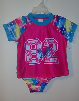 Op Toddler Girls Rashguard 2 Piece Swimsuit (Size 2T) BRAND NEW W TAGS!!