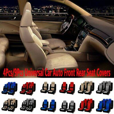 New Universal Fabric Car Auto Front Rear Seat Covers Protector Cushion Full Set