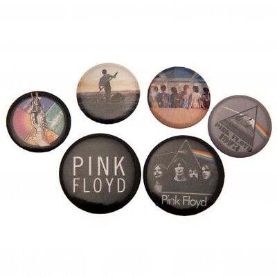 Pink Floyd Six Button Badges Set with Free UK P&P