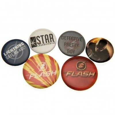 The Flash Six Button Badges Set with Free UK P&P