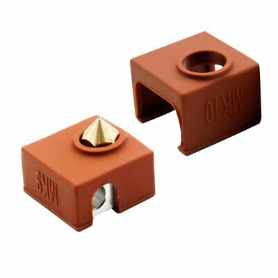 1/3x Silicone Sock Heater Block Extruder Cover For 3D Printer E3D-V6 MK 7/8/9/10