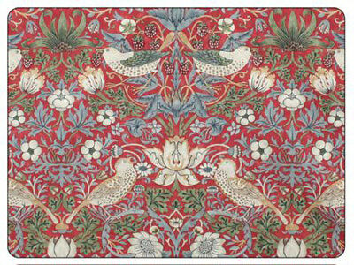 Pimpernel Morris & Co Strawberry Thief Red Placemats Table Mats Set of 6 New