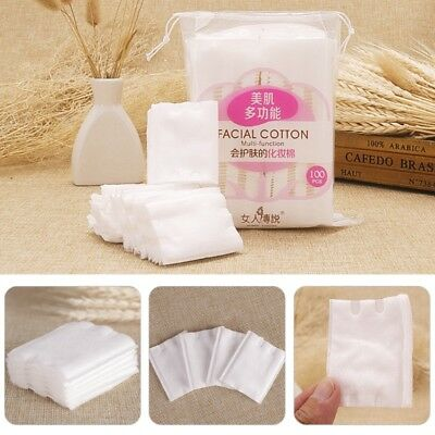 Cosmetic Clean Pads Soft Cotton Face Eye Lips Makeup Puff Nail Art Remover 1Pack
