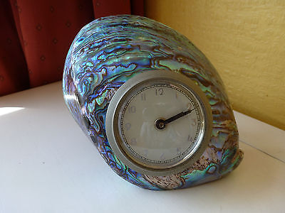 Paua Shell Mantle Clock Genuine Paua Shell Made In Nz