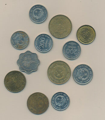 Viet Nam Lot 12 Coins - With Bu