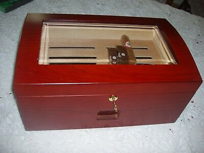 Cherry Wood Cigar Humidor with Oasis XL Electric Humidifier