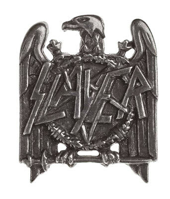 Slayer Lapel Badge Eagle band logo new Official Alchemy Silver