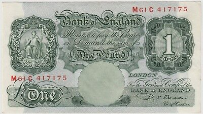1949  £1 , 1 Pound Bank Of England P S Beale  Note Crisp Circulated 175