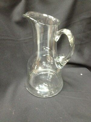 Antique Vintage Nice Handblown Large Heavy Water Pitcher