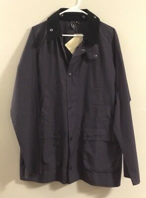 NWT Barbour Bedale Washed Cotton Jacket Outwear SZ XL Navy All-season $275+