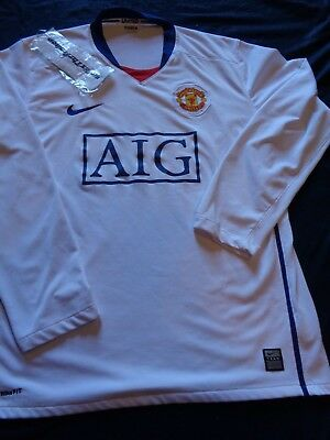 9d84a64ad1e Nike Fit Dri Manchester United AIG Shirt Jersey Adult Large Soccer MUFC