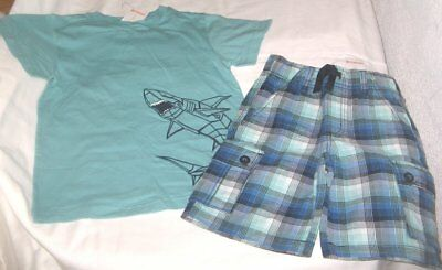 NWT Boys 6 GYMBOREE 2 Pc Outfit Shorts and Short Sleeve Top NEW